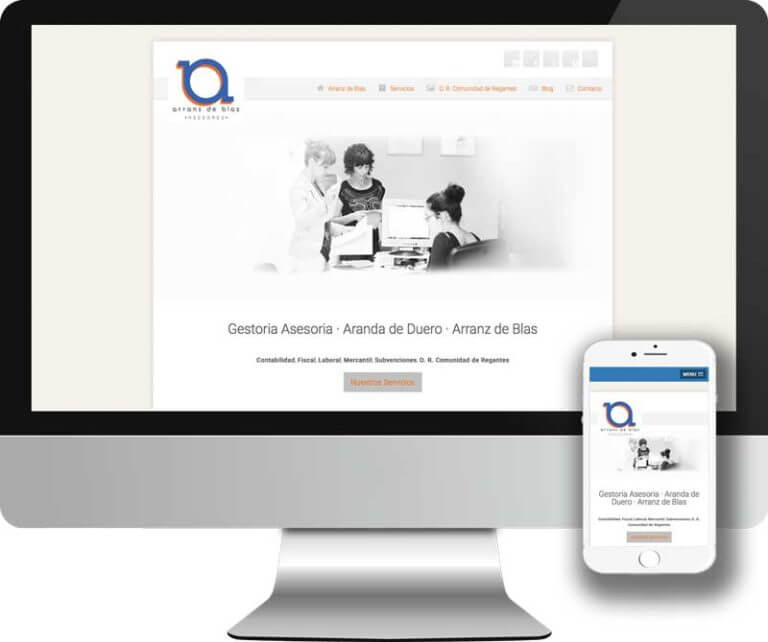 Diseño y desarrollo Web en HTML5 para la asesoría empresarial Arranz de Blas