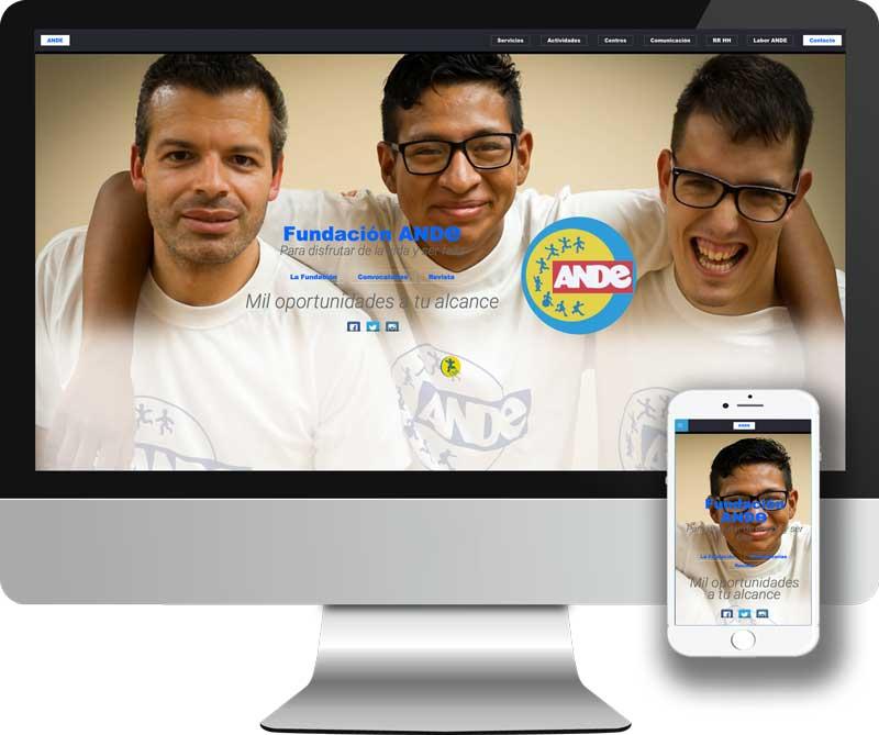Diseño y desarrollo Web en HTML5 para la Fundacion ANDe