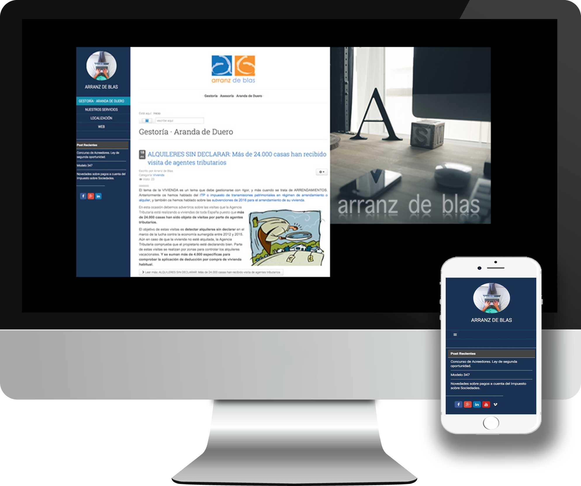 Blog desarrollado en Joomla! para la gestoria administrativa Arranz de Blas