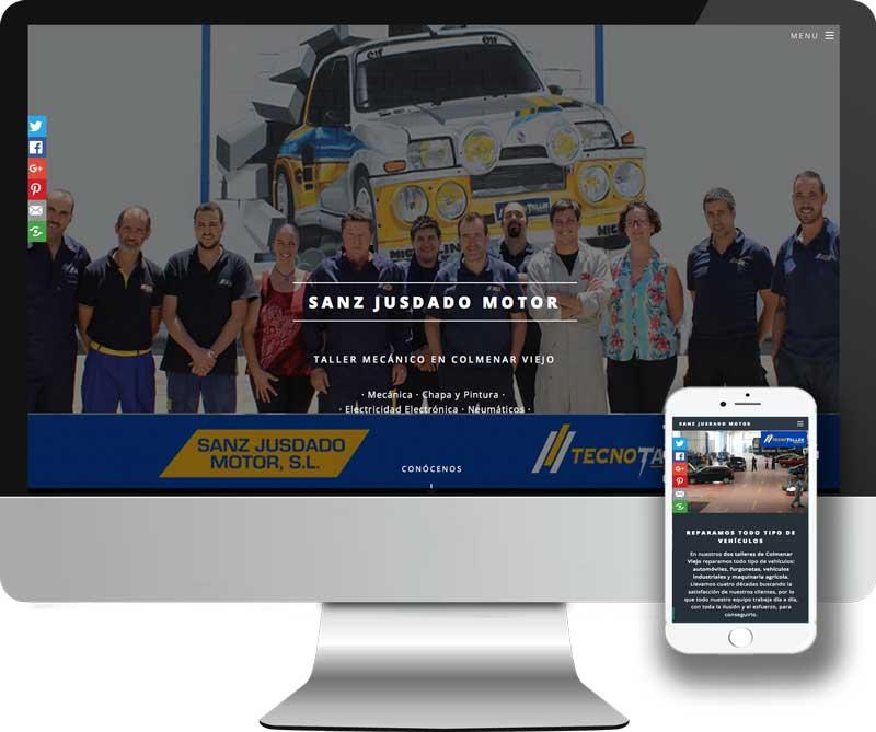 Diseño y desarrollo Web en HTML5 para los talleres mecánicos Sanz Jusdado Motor