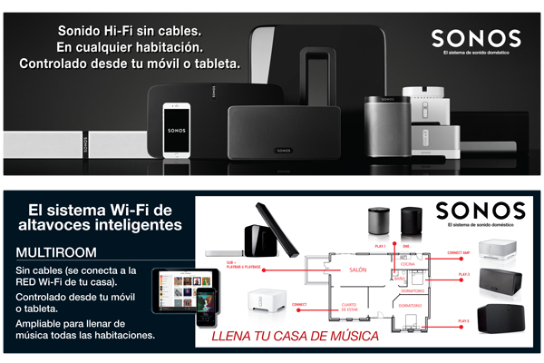 Diseño de carteles para la marca SONOS