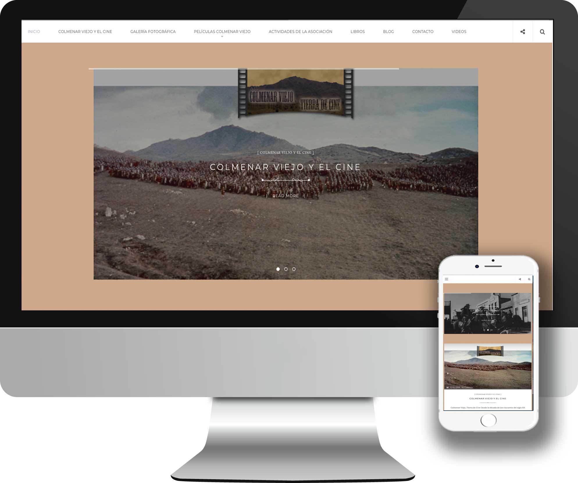 Desarrollo en WordPress para la Asociación Cultural Colmenar Viejo Tierra de Cine