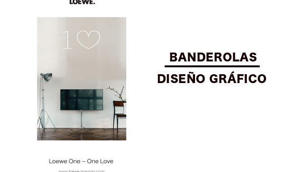 Banderola. Diseño para Loewe